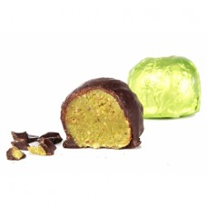 Jemně namleté pistácie v mléčné čokoládě