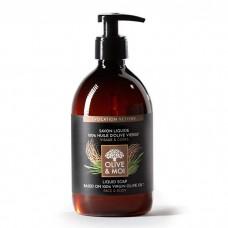 OLIVE & MOI tekuté mýdlo z panenského olivového oleje a s parfémem z indické trávy