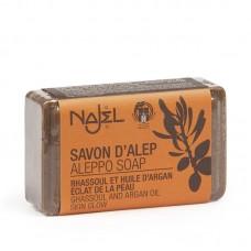 NAJEL aleppské mýdlo s jílem rhassoul a arganovým olejem